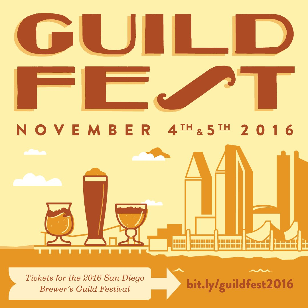 #GUILDFEST2016 || Tickets for the @sdbrewers #GuildFest are now on sale! Get yours: https://t.co/GLl1g9mdsf! #sdbeer https://t.co/d1SkRcXgLK