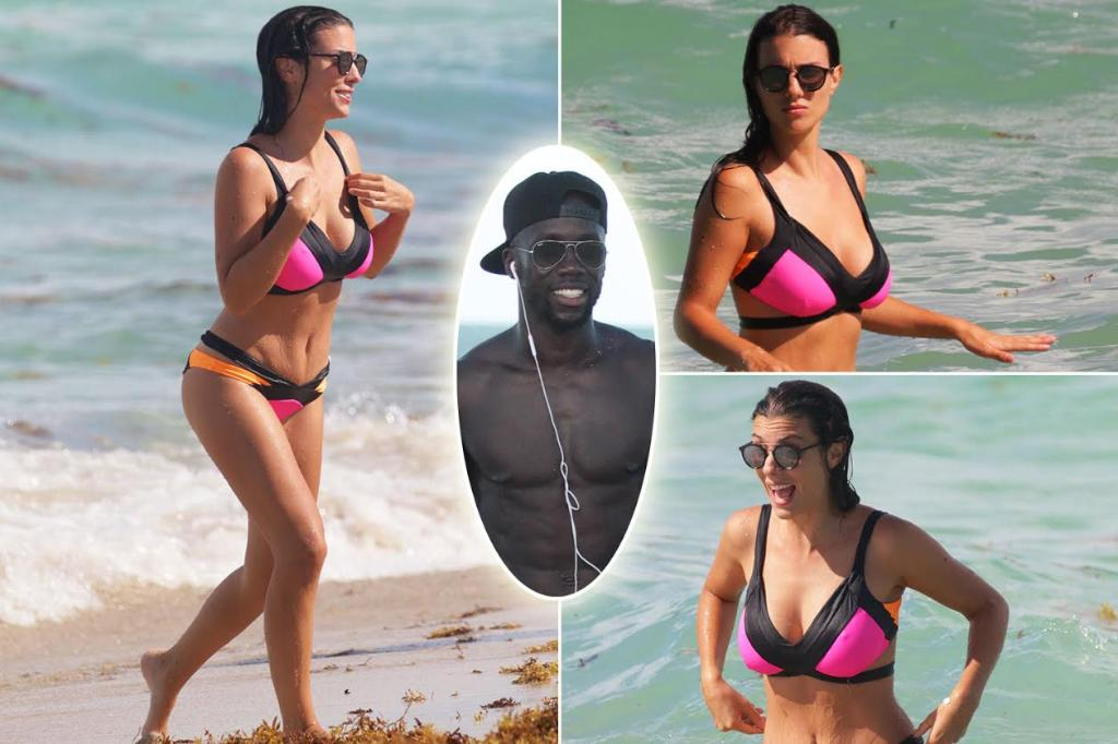 Sagna Appears Injury Free As He And Busty Wife Ludivine Enjoy The Rest Of Miami Holiday