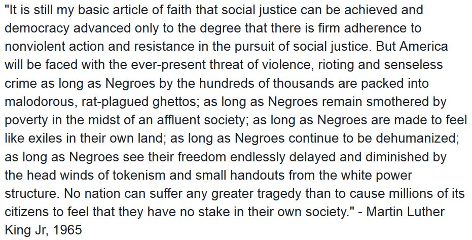 Here's another MLK quote for you since people are so fond of citing him this evening.. https://t.co/EfiwG69qg1
