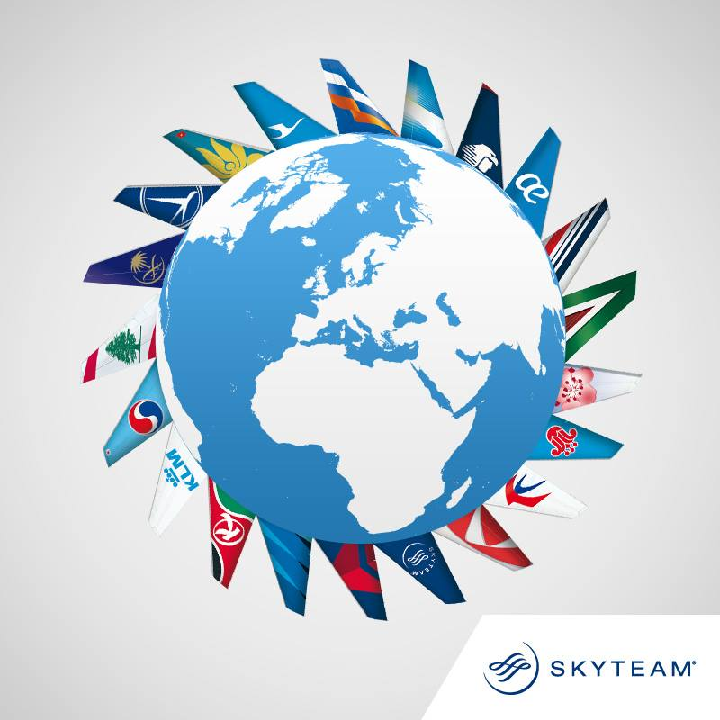 SkyTeam's 20 airlines travel to all corners of the world with you. ☞SkyTeam :