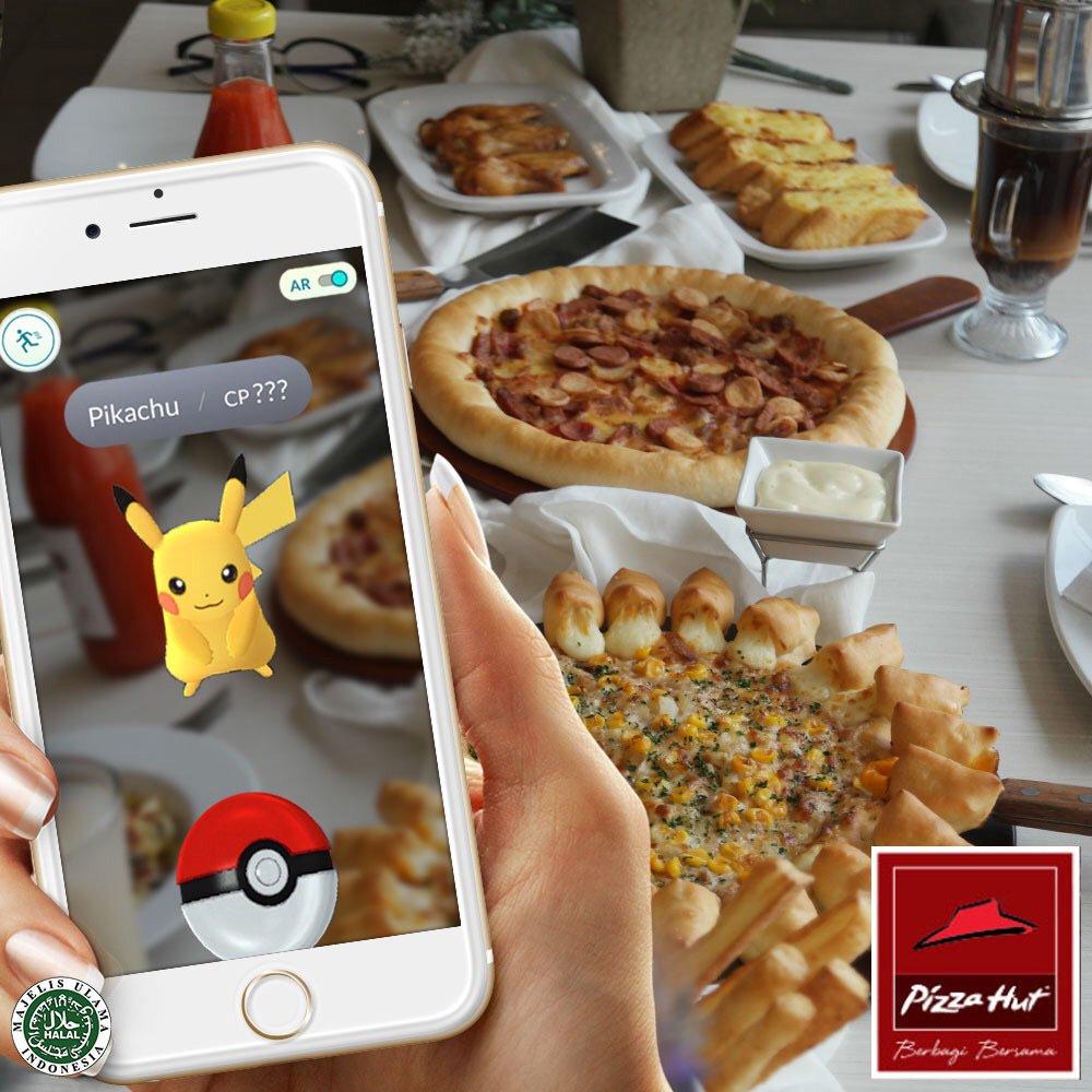 Yuk nikmati hidangan favorit dan isi energimu sebelum tangkap Pokemon. #PizzaHutID #PokemonGo https://t.co/T1N8ewcQc1