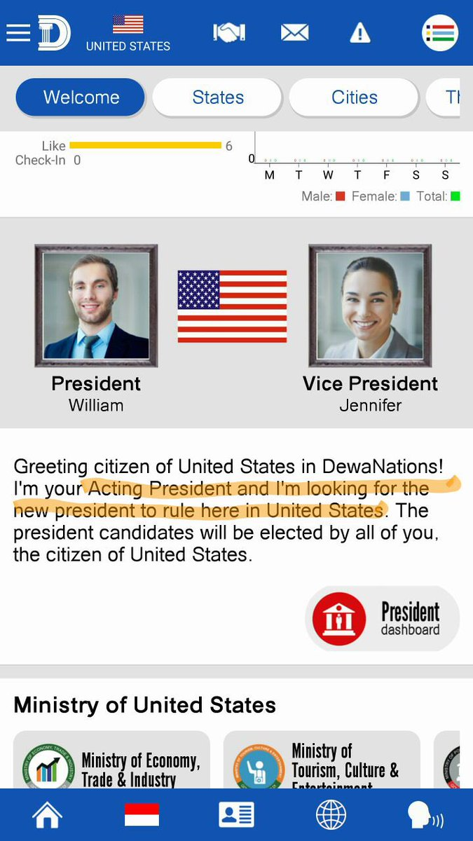 Wanna become d President of ur country? Here's my new startup. @DewaNations join now https://t.co/4WTaxlcOpT https://t.co/Tfsi2kJuci