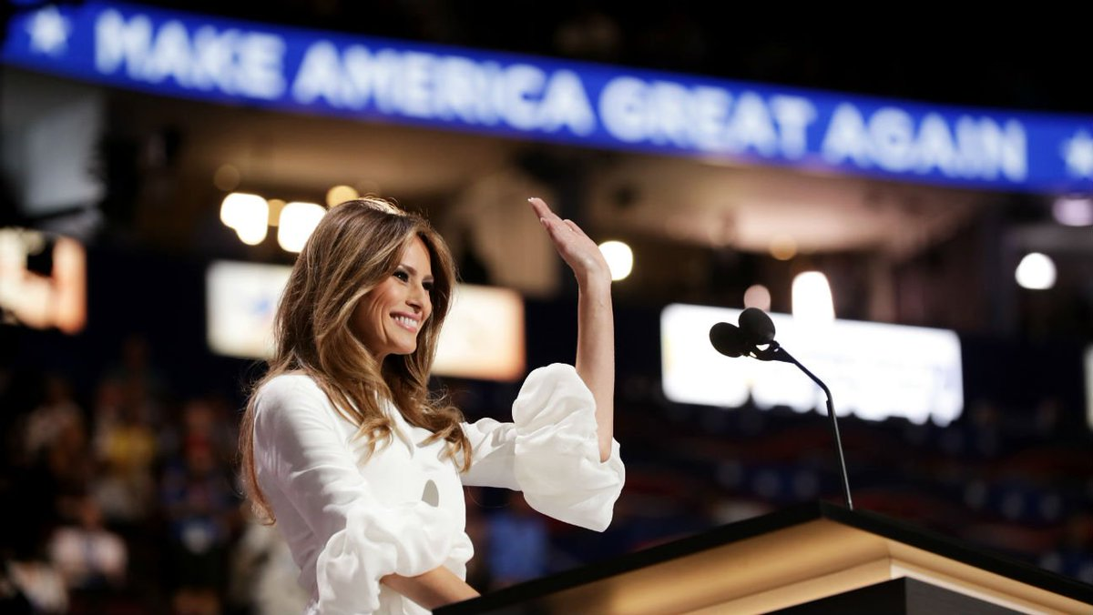 Critic's Notebook: Melania Trump (or Michelle Obama?) Dazzles at