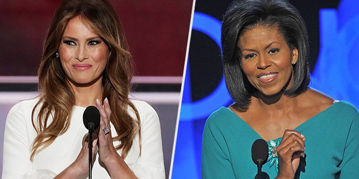 Read the full transcript of Melania Trump's speech side-by-side with Michelle Obama's