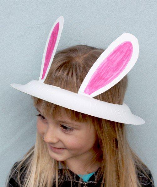 Sombrero casero para niños, ¡conviértete en un simpático conejo!