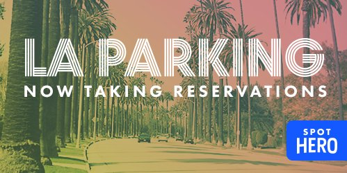 Use for LAX! RT @spothero: We're live in LA! Reserve parking at 150+ locations now!