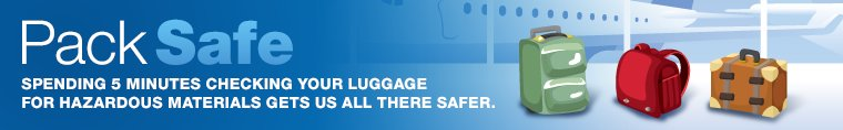 @FAANews and @AskTSA remind us to travel safe. When in doubt, leave it out!