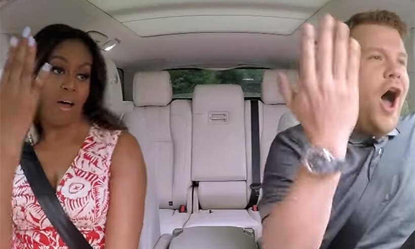 Sneak peek! Michelle Obama lets her hair down on CarpoolKaraoke:
