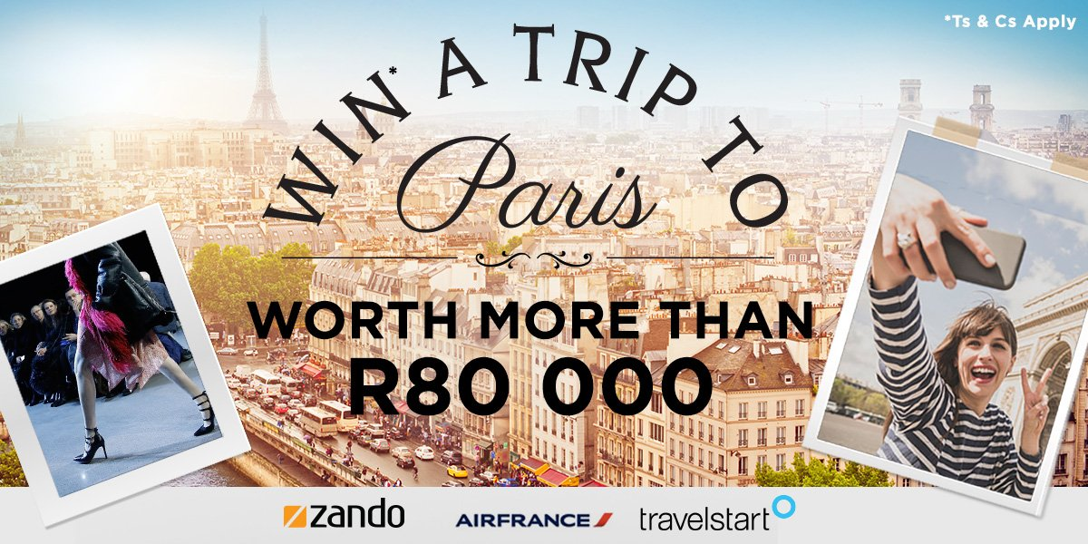 WIN A DREAM TRIP TO PARIS WORTH OVER R80 000, plus a once in a lifetime fashion experience! https://t.co/viEYKuOP0Q https://t.co/6ZefZz4rro