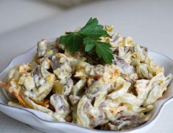 Салат из говядины с овощами рецепт