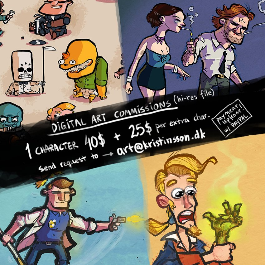 Hallo! Trying to save up for wedding, so I'm opening up for art commissions. Digital only. RTs much appreciated! https://t.co/LF5ddDAWfz