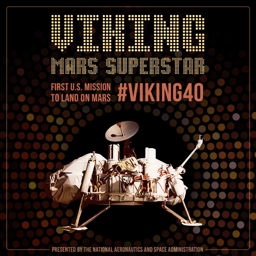 Superstar! Saluting @NASA's first Mars lander with #Viking40 live talks July 19-20 on https://t.co/CoE5S8rX06 https://t.co/PHqw9vJMtT