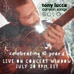 TOMORROW NIGHT: Don't miss this one! #CanyonSongs, the Solo show on @concertwindow 9pm CST! https://t.co/kMIDpYgS8U