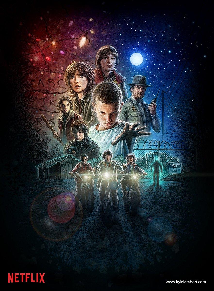 Get a closer look at the stunning poster for #StrangerThings on Abduzeedo! <3  https://t.co/wwfM8A6Bqh https://t.co/yr6KuTIrim