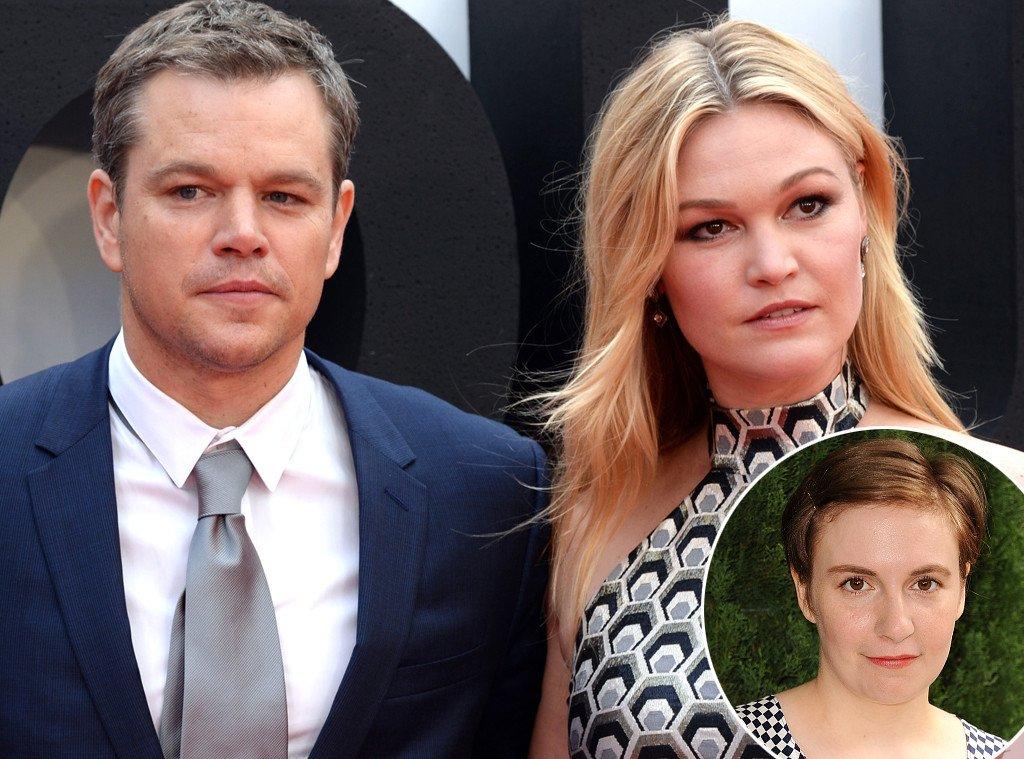Matt Damon and Julia Stiles respond to Lena Dunham's critique of the Jason Bourne poster.