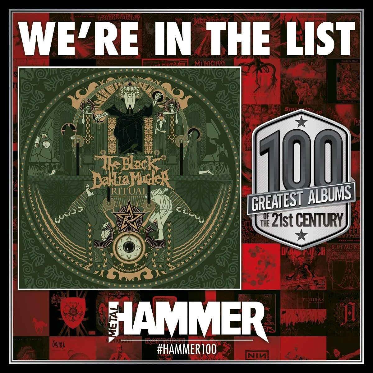 We're in @MetalHammer's list of the 100 best albums of the 21st Century.  #Hammer100 https://t.co/48rOpjLgBb