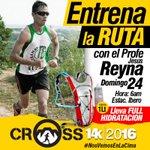 ENTRENA LA RUTA l#CrossCountry con el Profe Reyna Domingo 24/7 6am Colerio Ibero FULL hidratacion @cachamayrunners https://t.co/6LIjpWIPuL