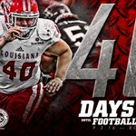 We're just 40 days from football! #GEAUXCajuns #ONEANDONLY https://t.co/vdZL24GyCq