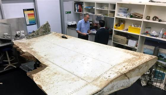 Could this wing flap be from missing MH370?