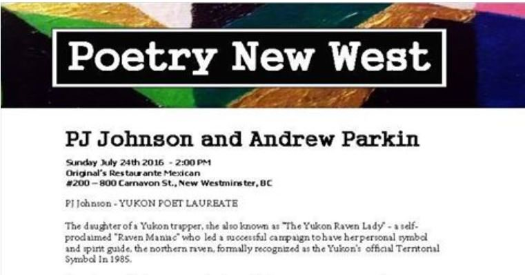 """pj johnson July 24th at 2 pm.~ Be sure to drop by if you happen to be in the neighborhood!"""" #CanLit #AmWriting #Poet https://t.co/T4MVTt3dt4"""
