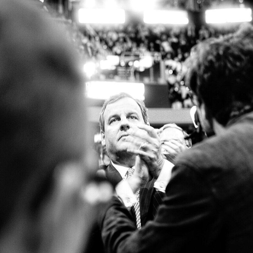 .@ChrisChristie during @DonaldJTrumpJr speech at the #RNCinCLE tonight. https://t.co/Vp3mutbks6