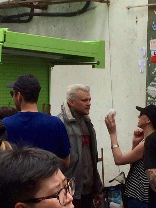 @_MOVIEtrailer: ハリウッド実写版「攻殻機動隊」撮影時の写真 バトーと草薙素子