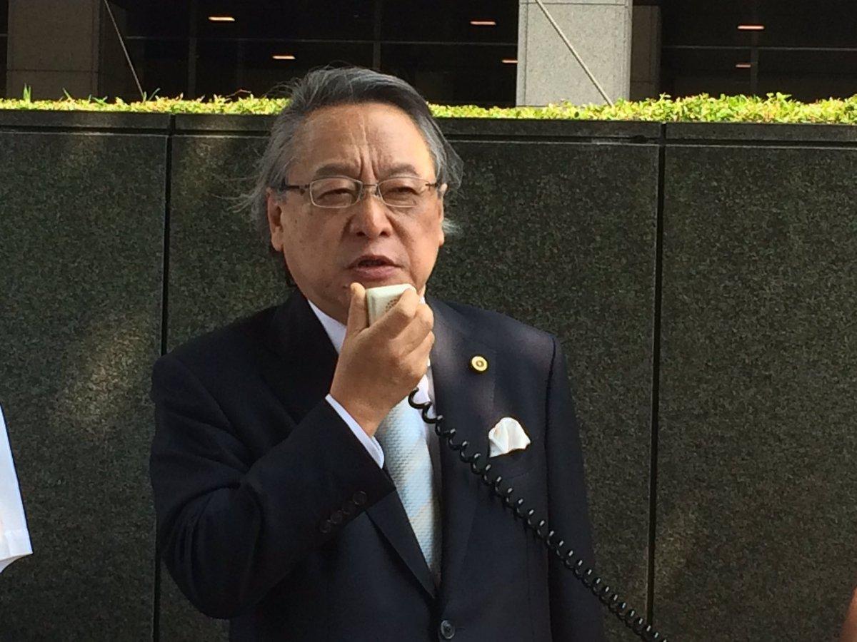 小林節先生。今回からTPP違憲訴訟の弁護団に加わりました。法廷での陳述などはありませんでした。 https://t.co/OcFwE2PTJ3