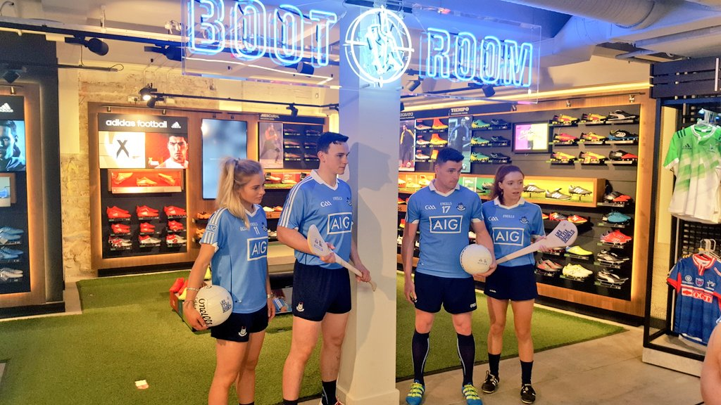 Some of our Dublin GAA stars making themselves at home in the #BootRoom at #LSSGraftonSt. Come down and say hello! https://t.co/mZZU3nrgrY