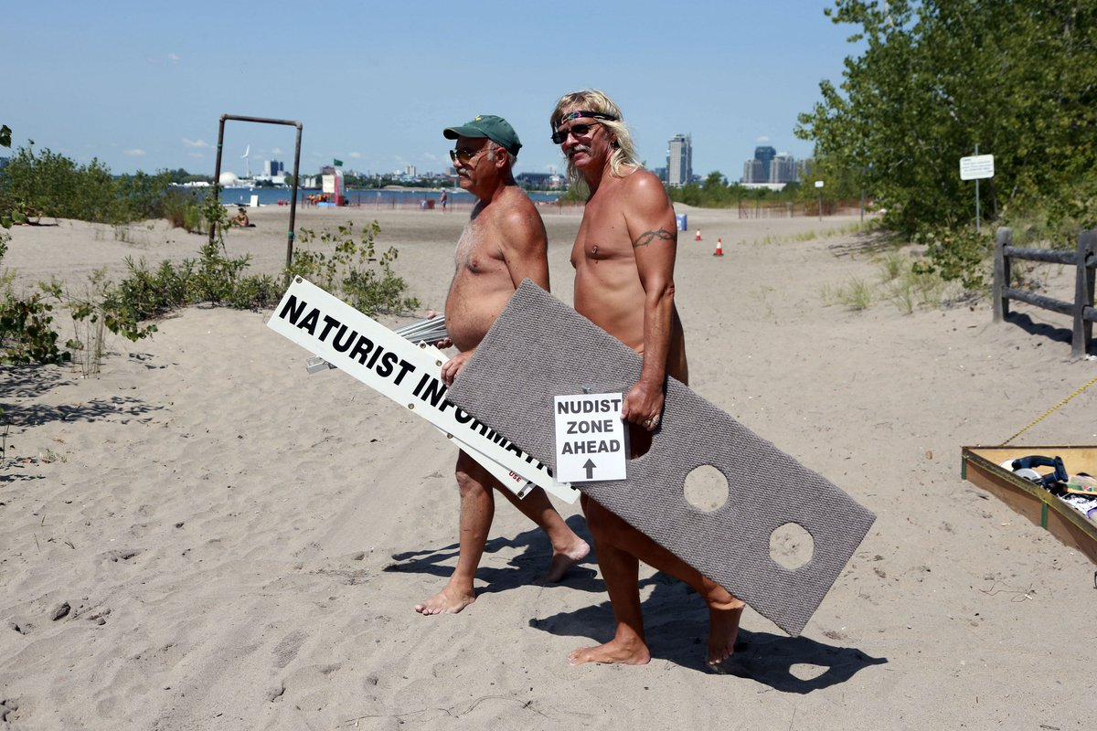 Nudist Zone Nudists want beach-goers to strip down at clothing-optional beach, hanlan's  point - scoopnest.com
