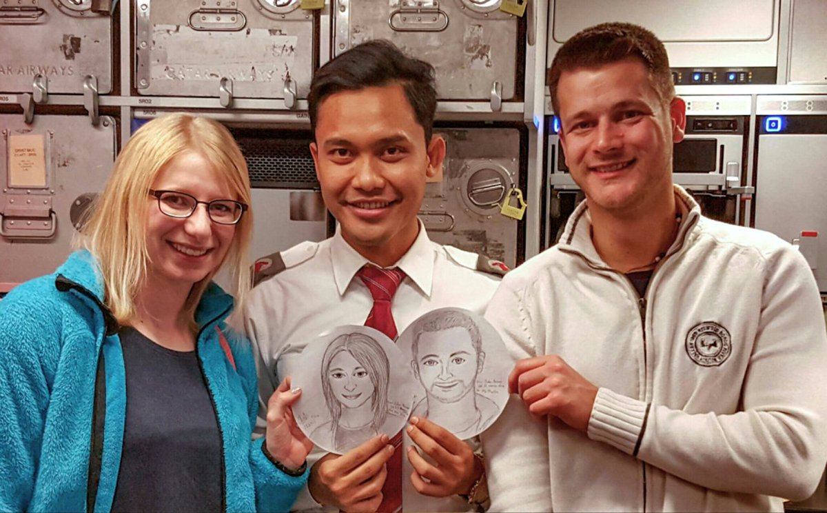 For this Cabin Crew member, creating memories means the gift of a hand-drawn portrait.