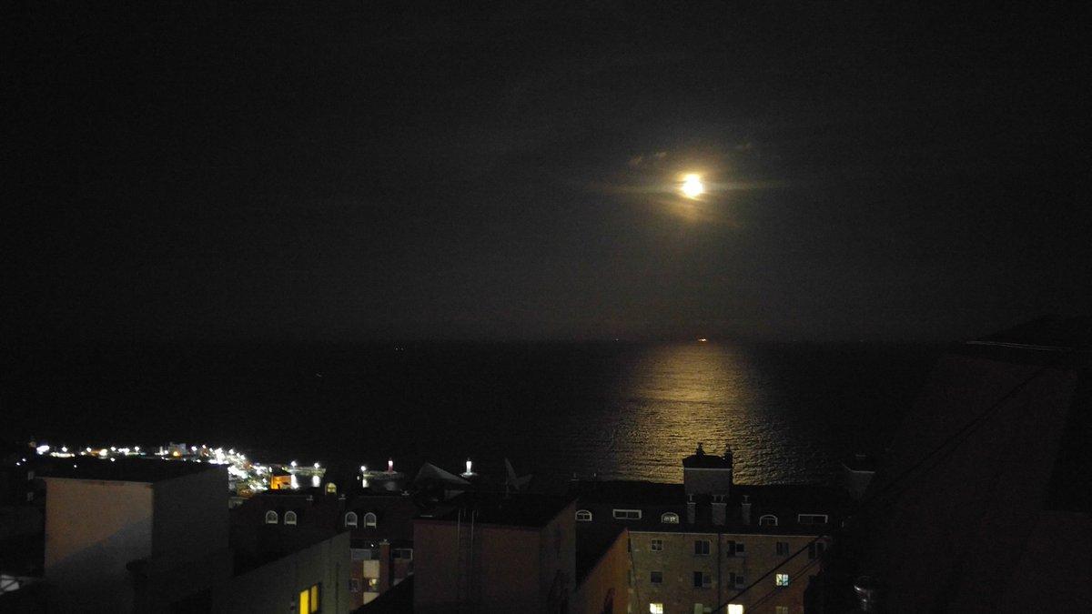 우와 오늘달엄청밝아 바다에비친달빛이정말이쁘다 https://t.co/HVBaFhwP31