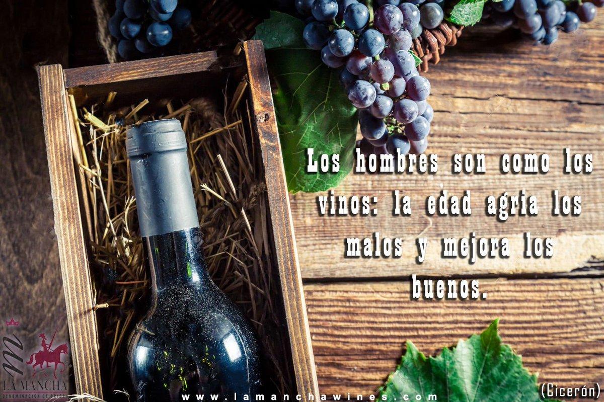 """Los hombres son como los vinos: la edad agría los malos y mejora los buenos.""""Cicerón"""" #frasesdevida #vinosdeLamancha https://t.co/FbHJZKbntB"""