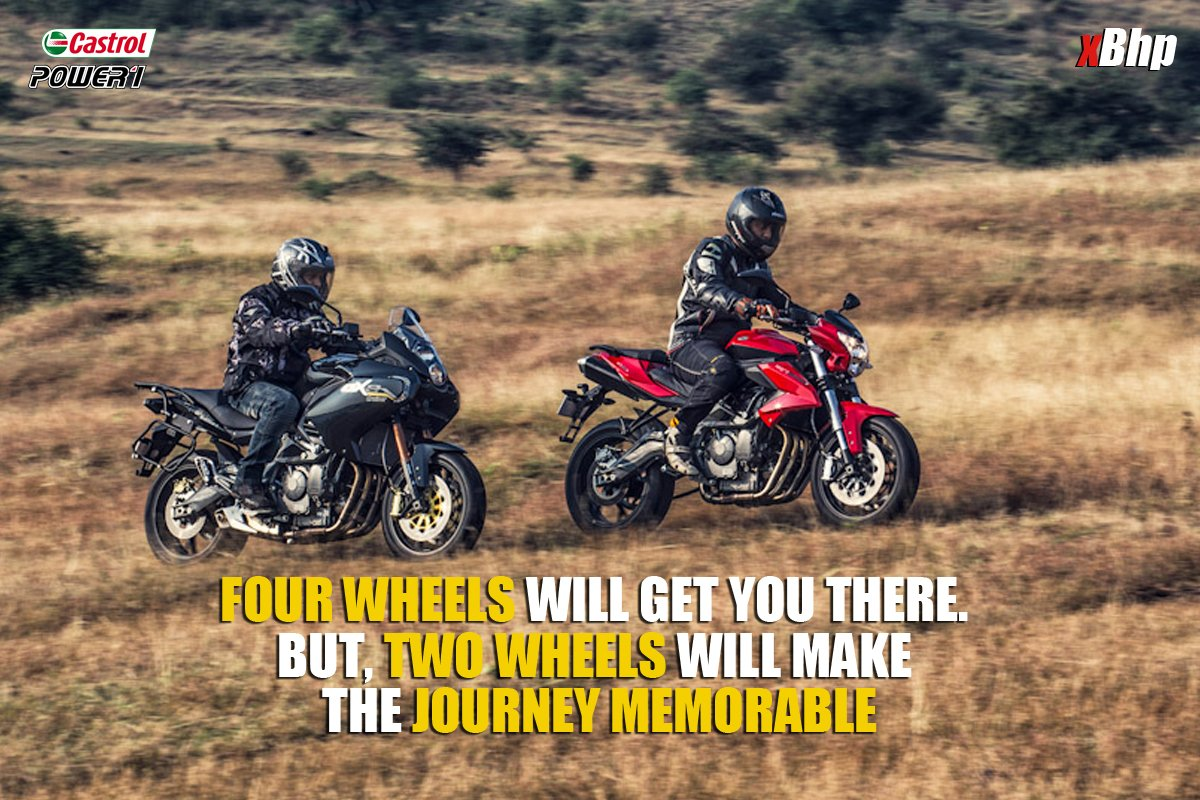 Four wheels will get you there. But, two wheels will make the journey memorable @castrolbiking https://t.co/0J2zspZcRT