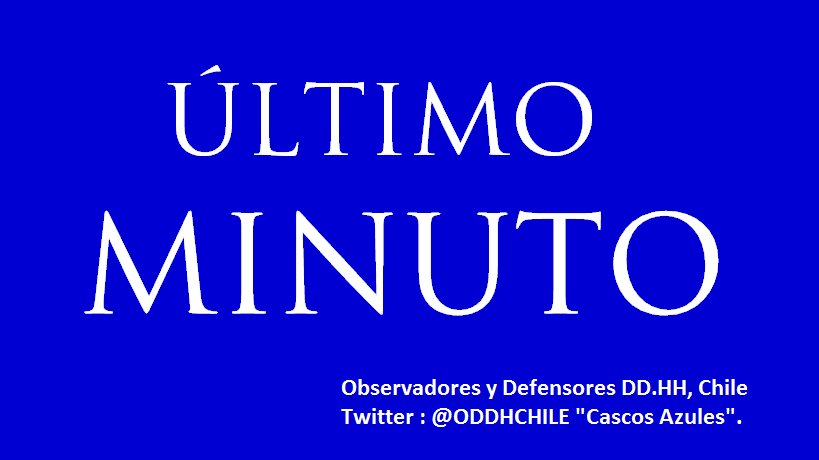 RT @ODDHCHILE: #FelipeDurán Ini