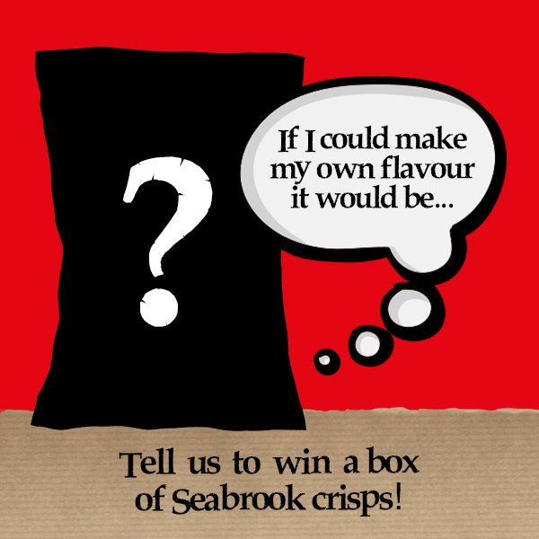 "Competition - ""If I could make my own crisp flavour it would be..."" Box of Seabrooks for the best answer #NewFlavour https://t.co/2gihZYuP66"