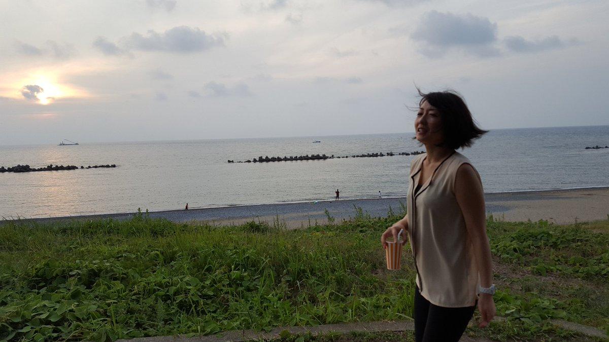 サンセット狩野。日本海。
