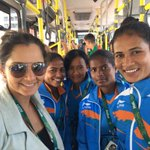 RT @Swinging_Swamy: @MirzaSania with women's hockey team @Rio2016_en https://t.co/6bbXOCZqnA