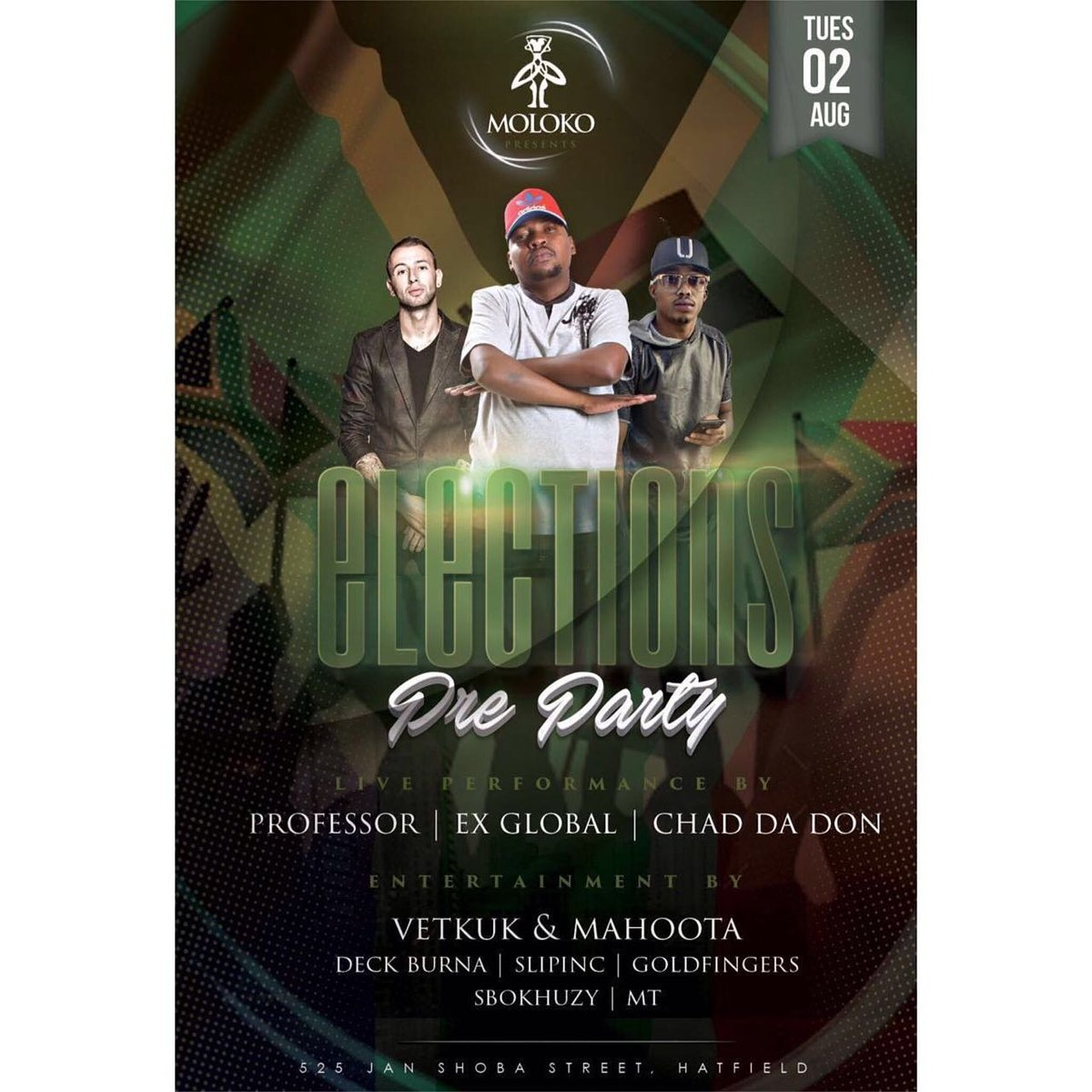 #PreElectionsParty @MolokoPretoria 2nyt. Its goin' DOWN heavy!!!! https://t.co/AAJwhQiAHA