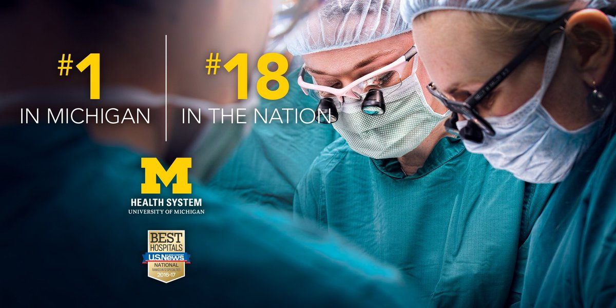 We're the top hospital in Michigan and #18 in the U.S. on @usnews #BestHospitals ranking: https://t.co/xLWMvbveg1 https://t.co/wWDk3TLM10