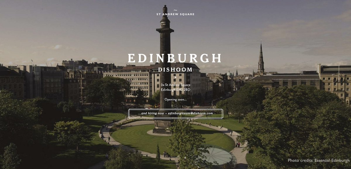 We're delighted to announce that we will open Dishoom Edinburgh this winter in the beautiful St Andrew Square. https://t.co/c7XqaZPuBT
