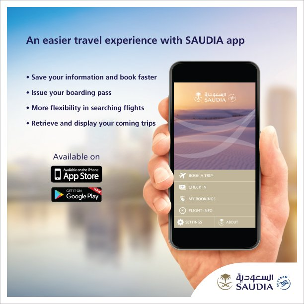 An easier travel experience with SAUDIA app  IOS