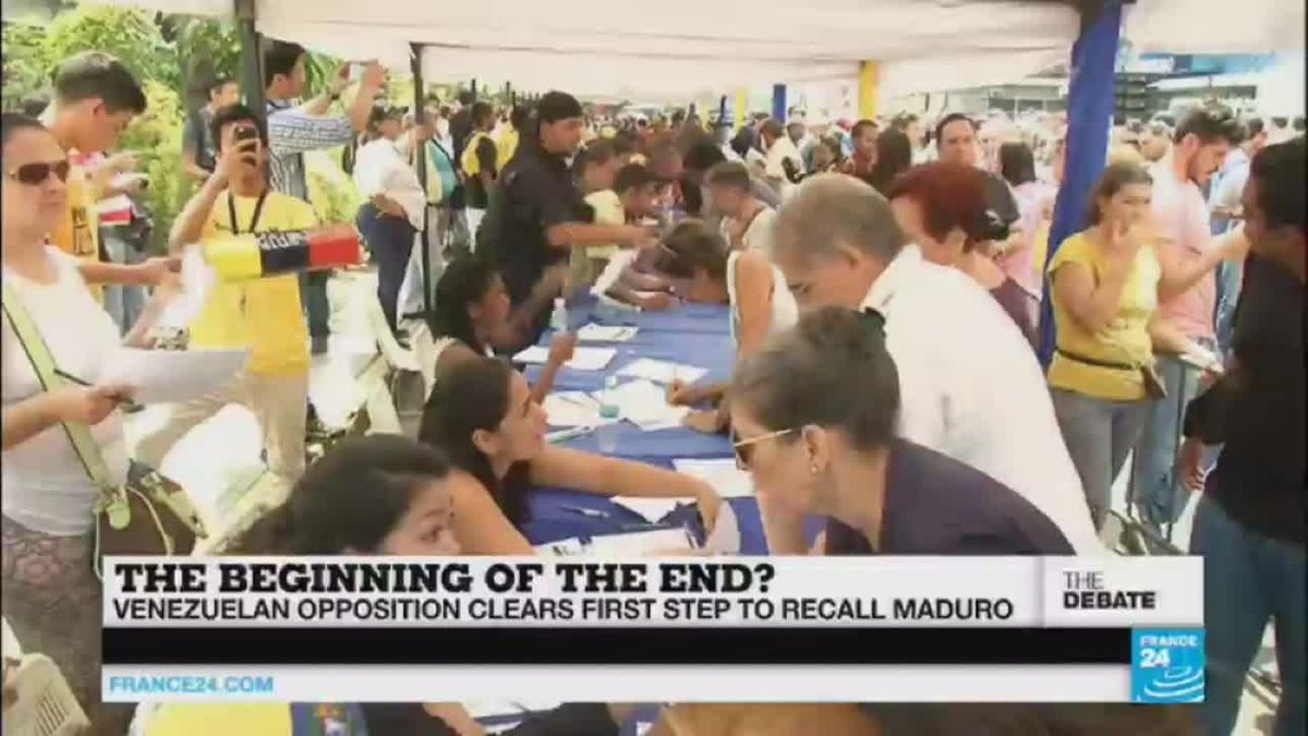 VIDEO -  The beginning of the end? Venezuela's opposition one step closer to recall of…