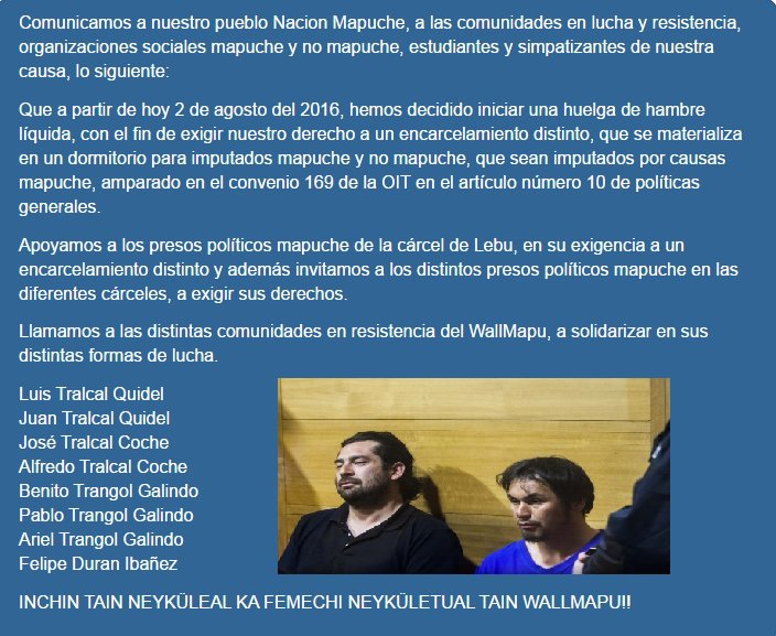 RT @Chileokulto: Comuneros mapuc