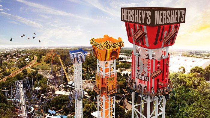 Announcing the first Choose-Your-Thrill Tower in the US: Hershey Triple Tower! #HP2017 More: https://t.co/gumyjfHdDg https://t.co/70Aa5honeU
