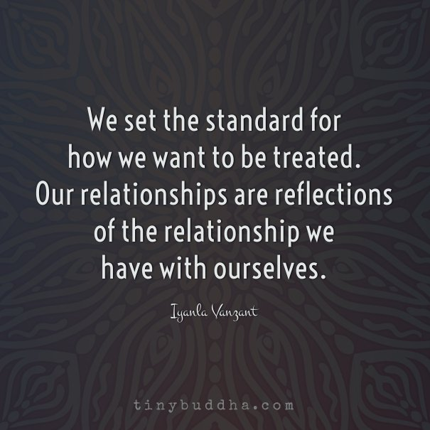 We set the standard of how we want to be treated. https://t.co/ABE1zTJaNL