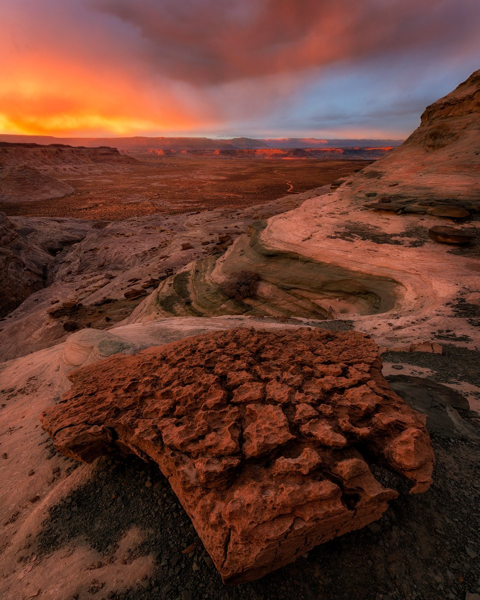The sky explodes with color over Stud Horse Point, #Utah | Photography by ©Aron Cooperman https://t.co/iE18srsWZi