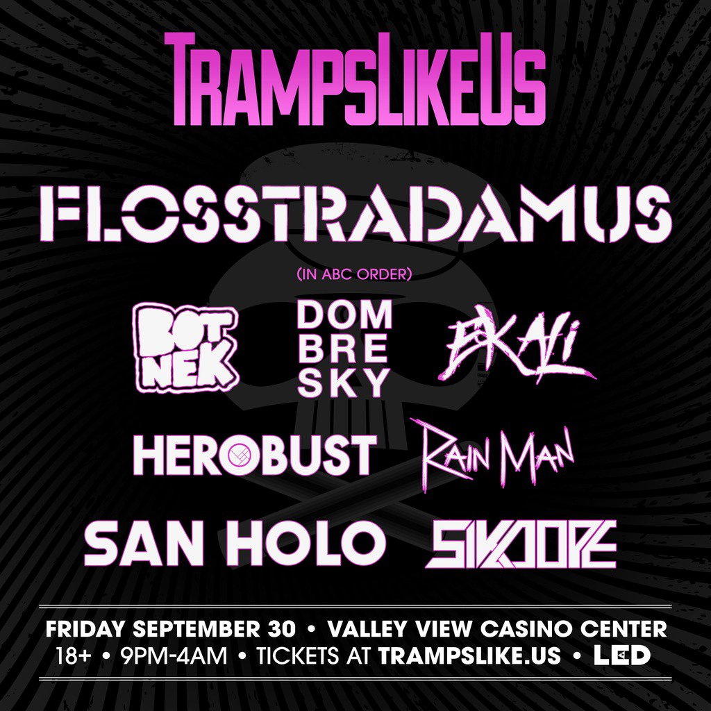 Here is your @TrampsLikeUsSD 2016 line-up! Who are YOU most excited to see? Limited $45 Tix: https://t.co/IQPNbrjlaV https://t.co/lHsfEbpSNu