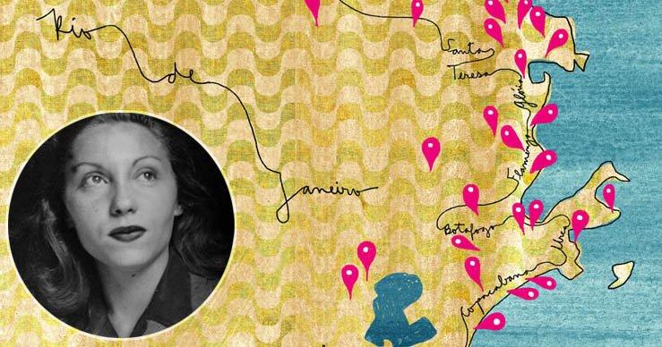 Um mapa com locais do Rio de Janeiro mencionados na obra de Clarice Lispector https://t.co/nbrkgAQKPT https://t.co/iUVu5mIouI