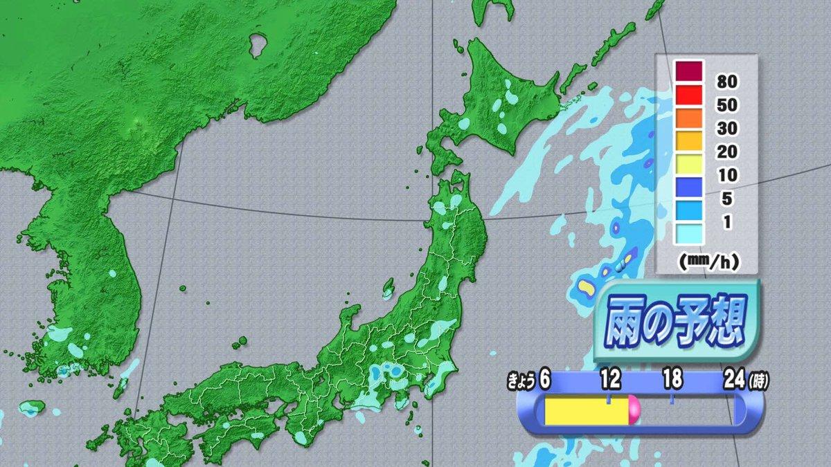 【2016/8/3-6:15 TBC気象台②】コンピュータによる予想では、午後の雨はそれほど表現され…