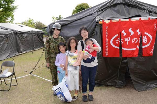 """【自衛隊を知る】「熊本に笑顔を」駆けつけた1100人 """"縁の下の力持ち""""であり続ける~兵庫の部隊から…"""